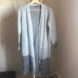 Gray and black Duster / Sweater